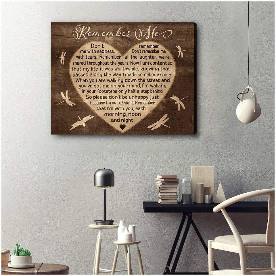 Zalooo Remember Me Dragonfly Wall Art Canvas