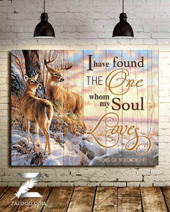 CANVAS Deer I have found the one who my soul loves