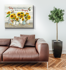Canvas Hummingbird + Sunflowers Make it amazing