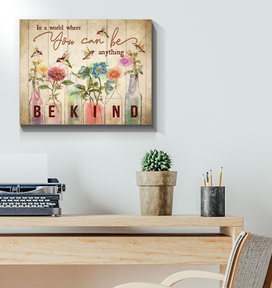 Canvas Hummingbird In A World