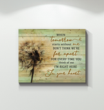 Canvas Dandelion In Your Heart
