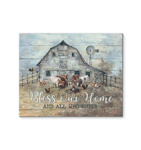 Farm Canvas Bless our home and all who enter