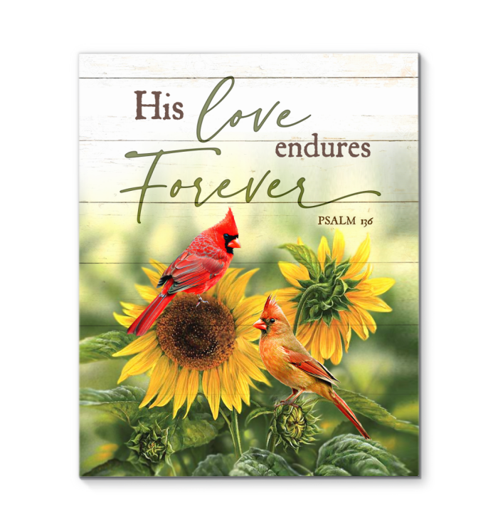 Canvas Cardinal His Love Endures Forever