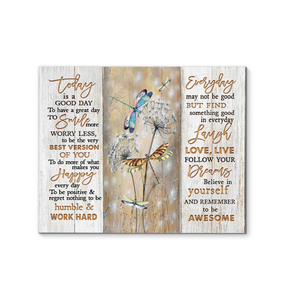 Zalooo To Be Awesome Dragonfly Wall Art Canvas
