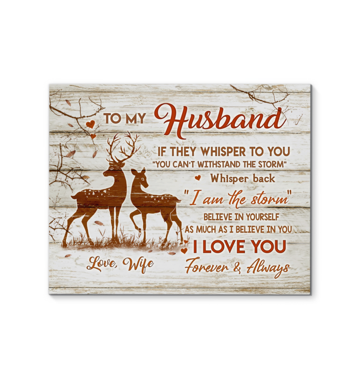 CANVAS Buck&Doe To My Husband