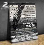 Zalooo You Are My Mom Angel Wings Wall Art Canvas