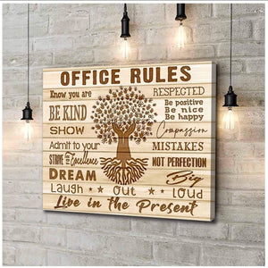 Canvas Office Office rules