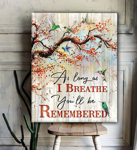 Canvas Hummingbird You'll Be Remembered3