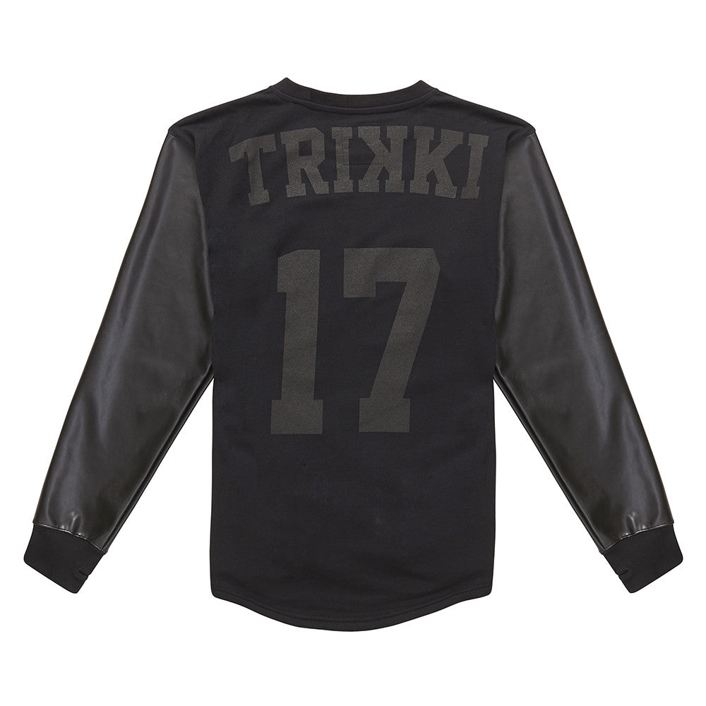 THRILLA : sweatshirt : baseball : black