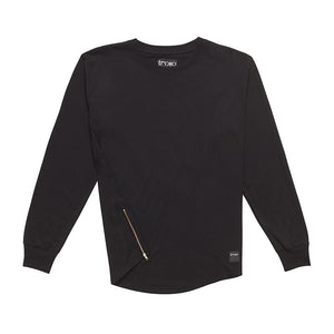 TRIPP : long sleeve t-shirt : oversized : baseball : black