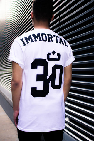 IMMORTAL : t-shirt : white