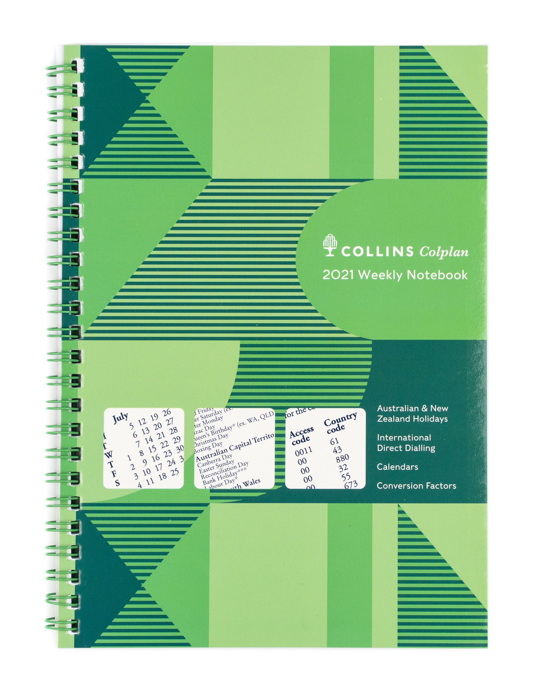 Colplan Notebook Diary 2021 A5-Weekly