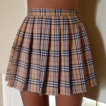Load image into Gallery viewer, Nova check pleated tennis skirt