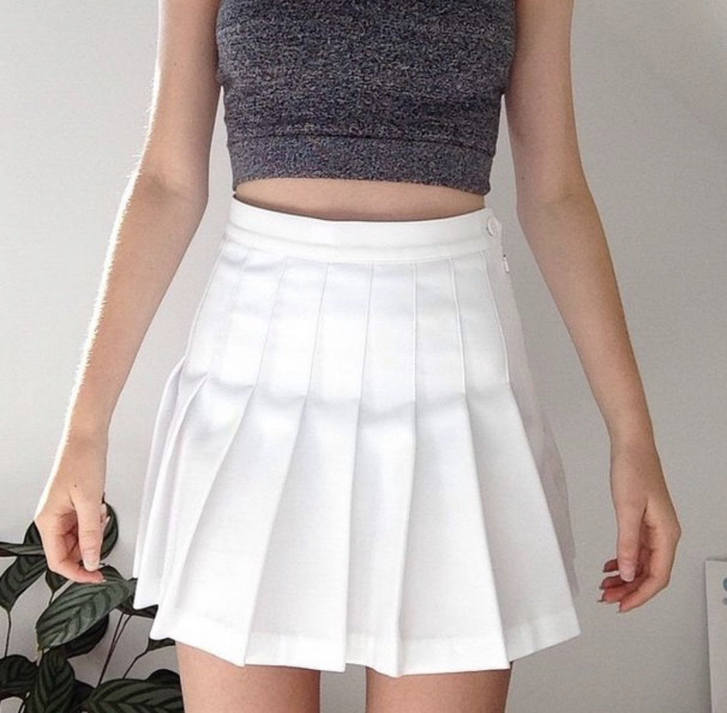 Pleated tennis skirts