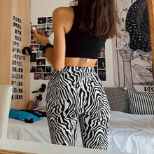 Load image into Gallery viewer, Zebra print wide leg trousers