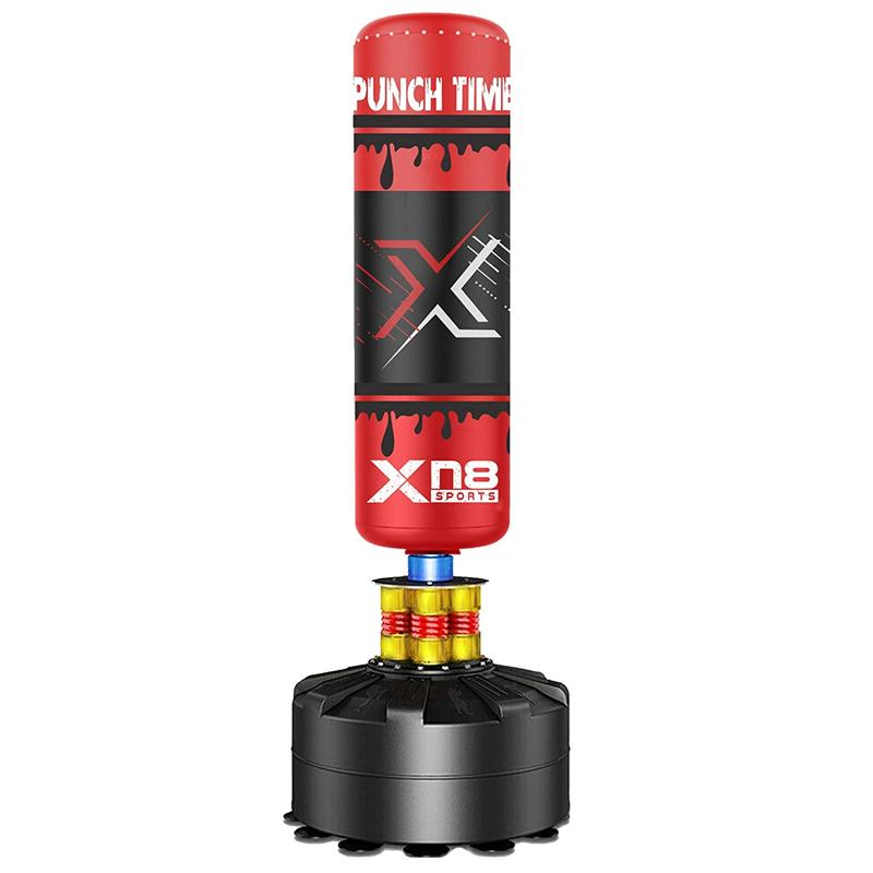 Xn8 Sports Stand Up Punch Bag Red