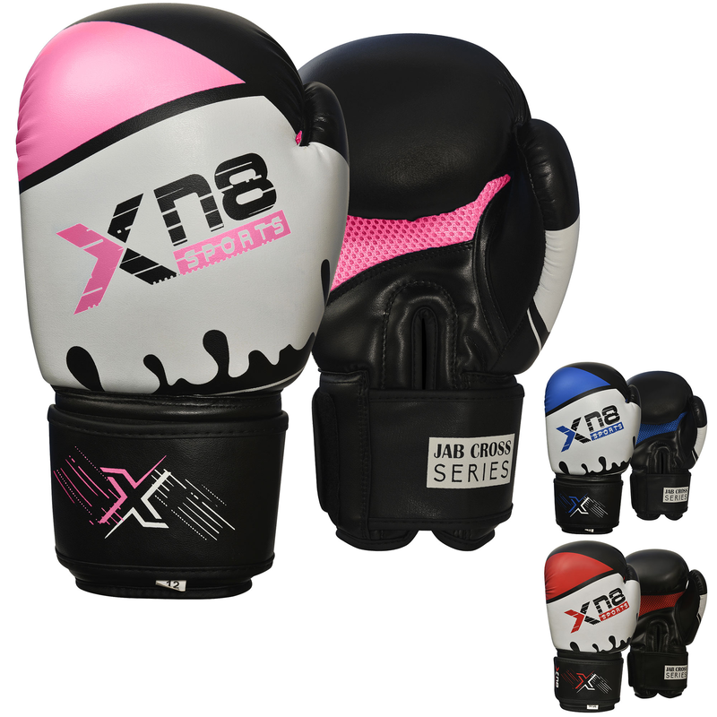 Xn8 Sports Boxing Gloves Pink Blue Red