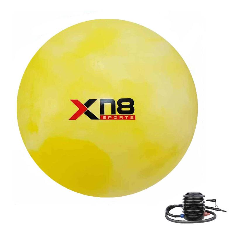 Xn8 Sports Large Gym Ball Color Rainbow Yellow