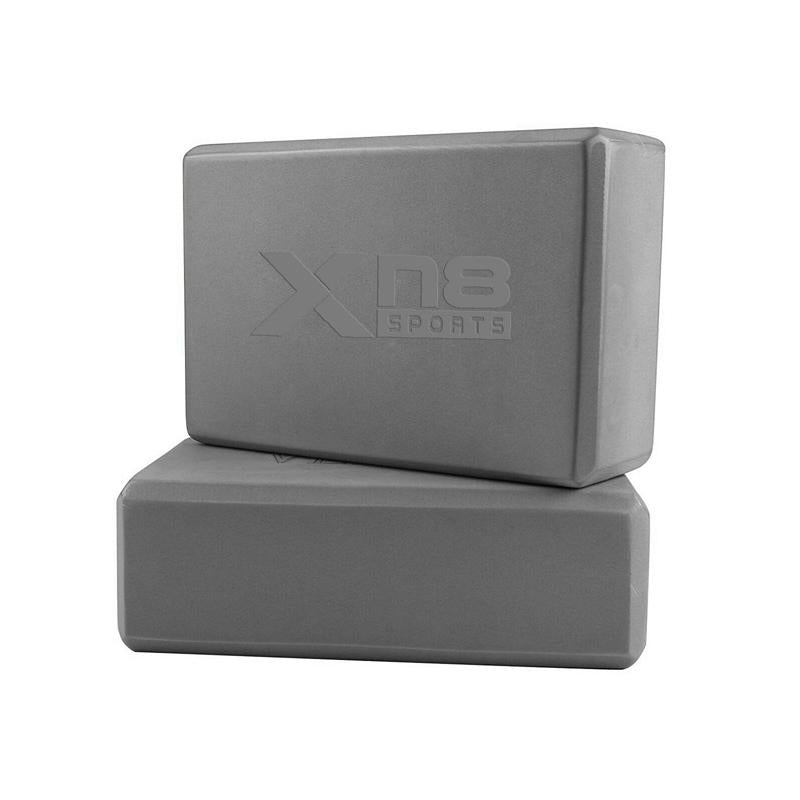 Xn8 Sports Yoga Block Set Grey