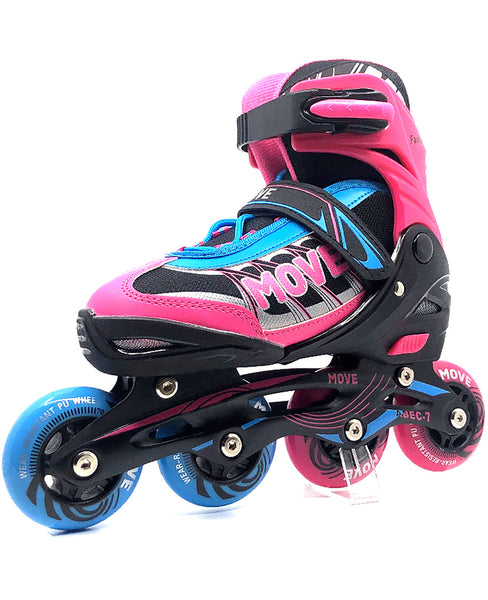 Inline Skates Move Fast Girl