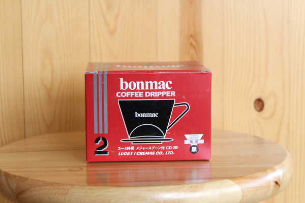 Bonmac V-Shaped Cone 2-Cup Coffee Dripper - Black & Gold