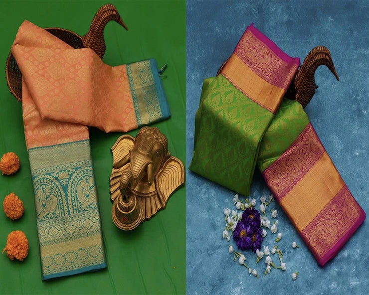 Designed Wedding Silk Saree Pack Of 2
