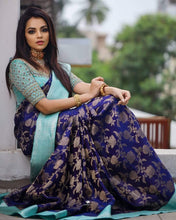 Load image into Gallery viewer, Ovya Silk Saree and Senorita Saree Archaic Traditional