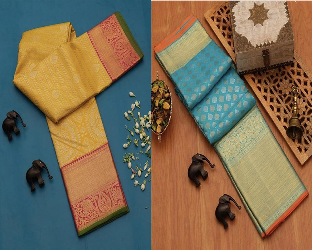 Fancy Designed Silk Saree Pack Of 2