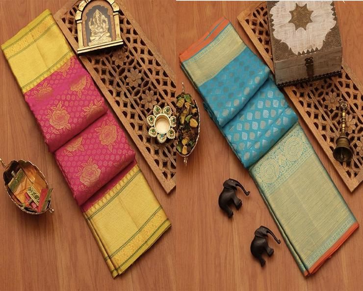 Fashionable Designed Silk Saree Pack Of 2