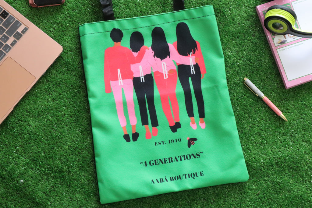 4 Women Tote Bag- Green