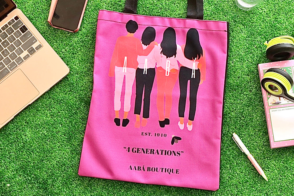 4 Women Tote Bag- Purple