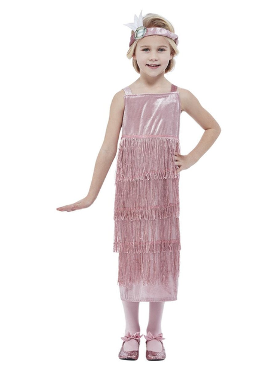 Girls 20s Pink Flapper Costume