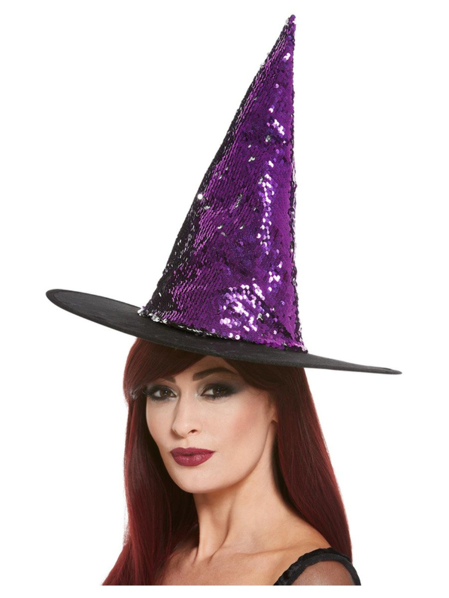 Reversible Sequin Witch Hat