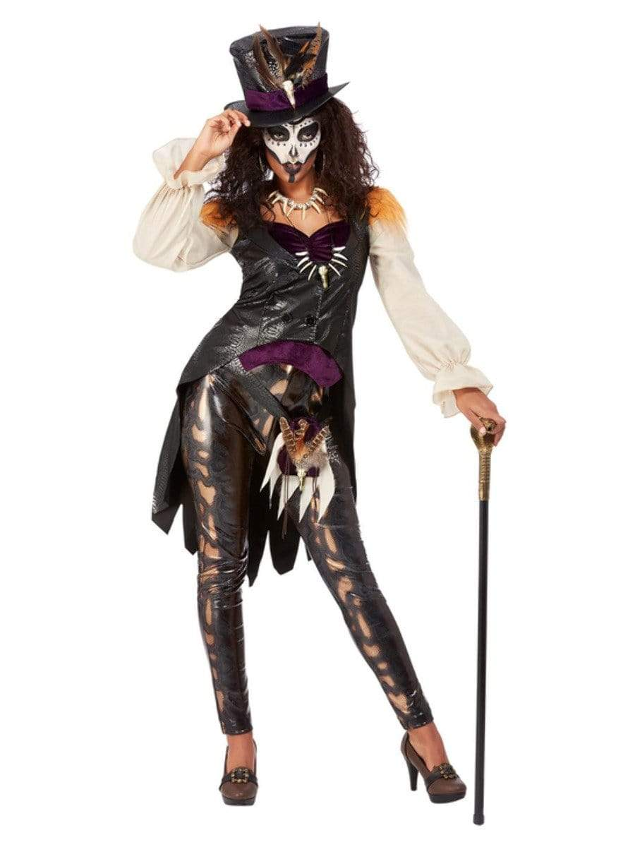 Deluxe Voodoo Witch Doctor Costume, Black