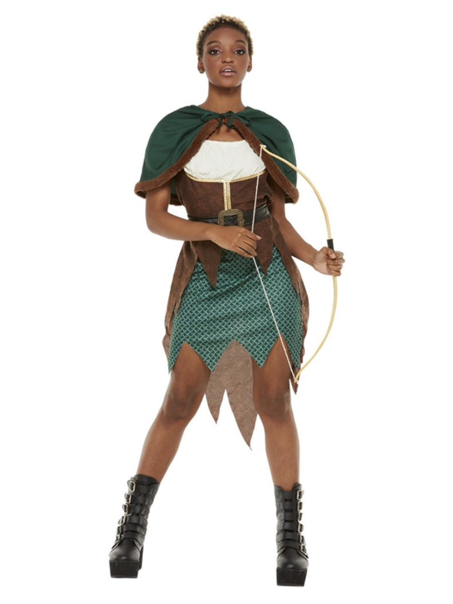 Deluxe Forest Archer Costume, Green