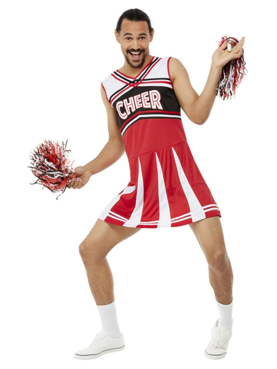 Give Me A...Cheerleader Costume, White & Red