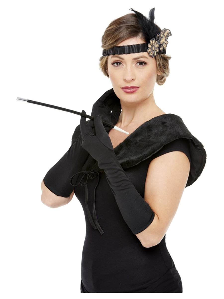 Deluxe 1920s Accessories Kit, Black & Gold