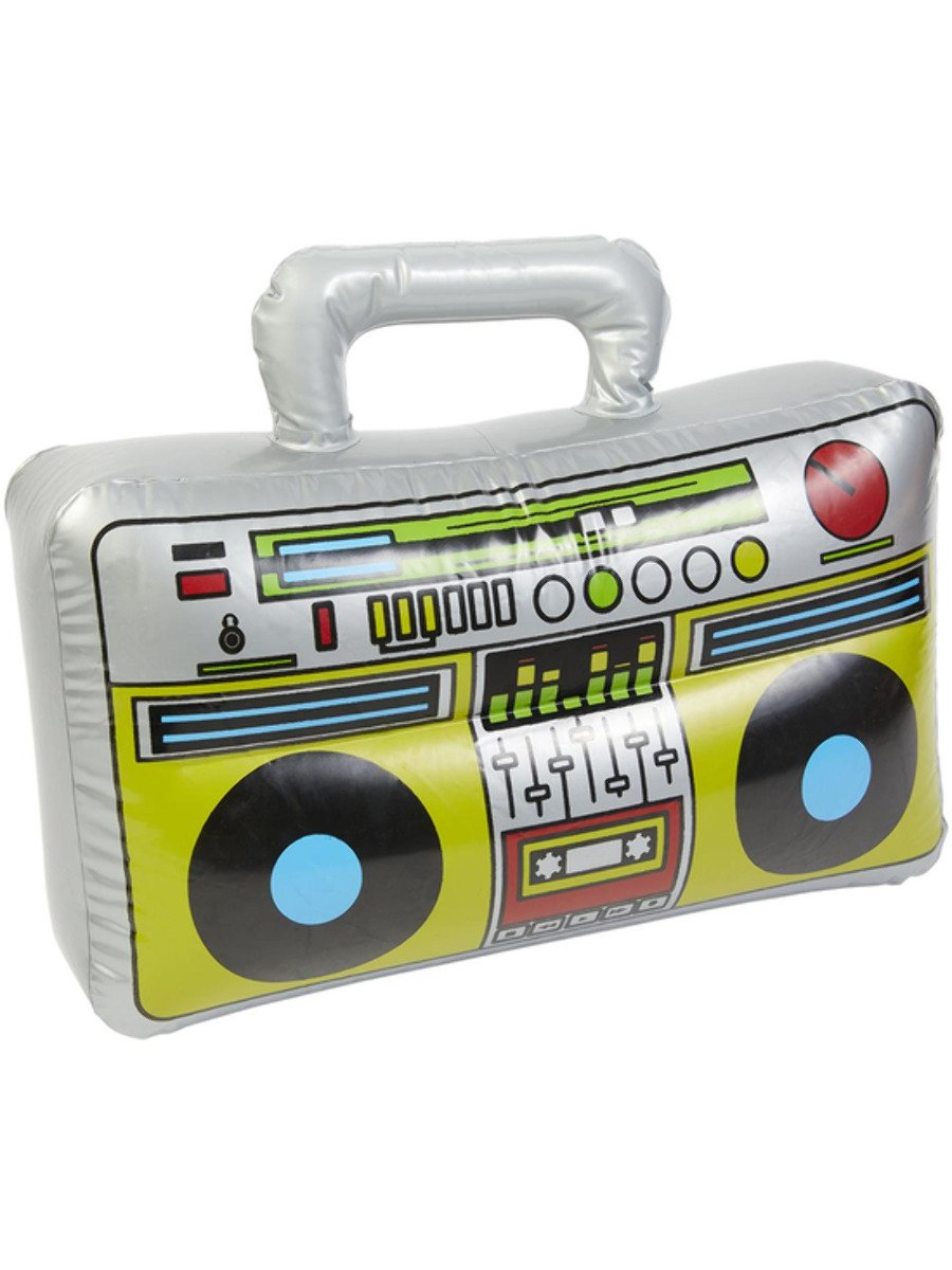 Inflatable Boom Box, Silver