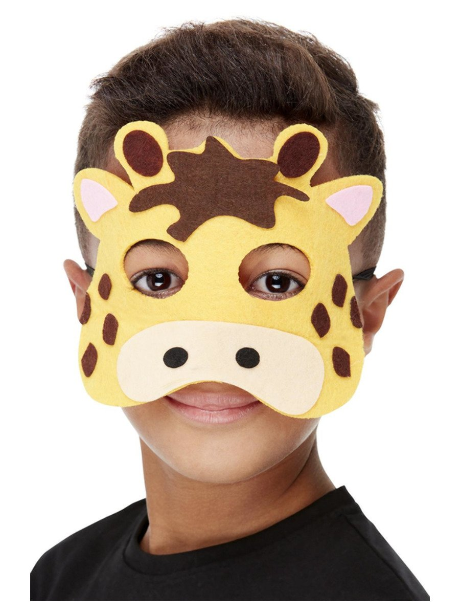 Giraffe Felt Mask, Yellow