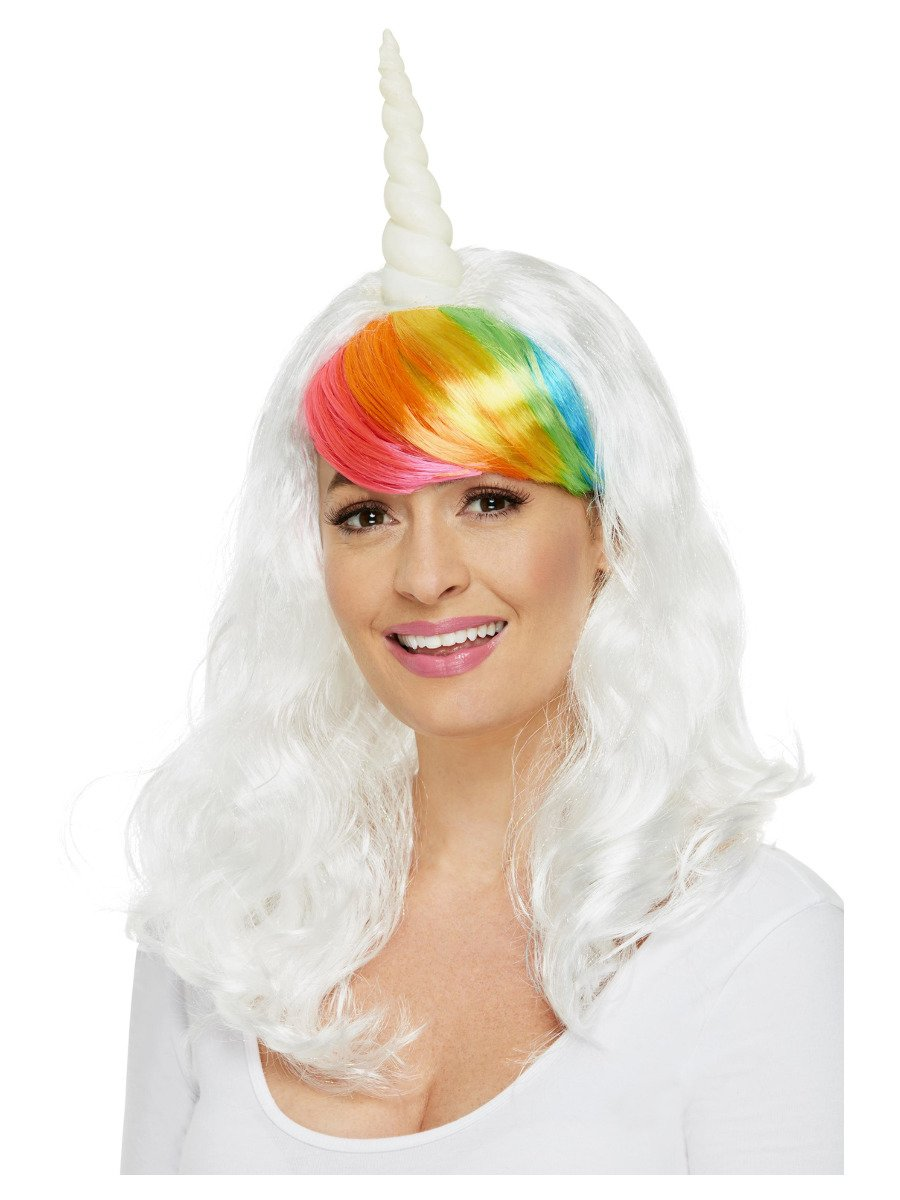 Ladies Unicorn Wig, White