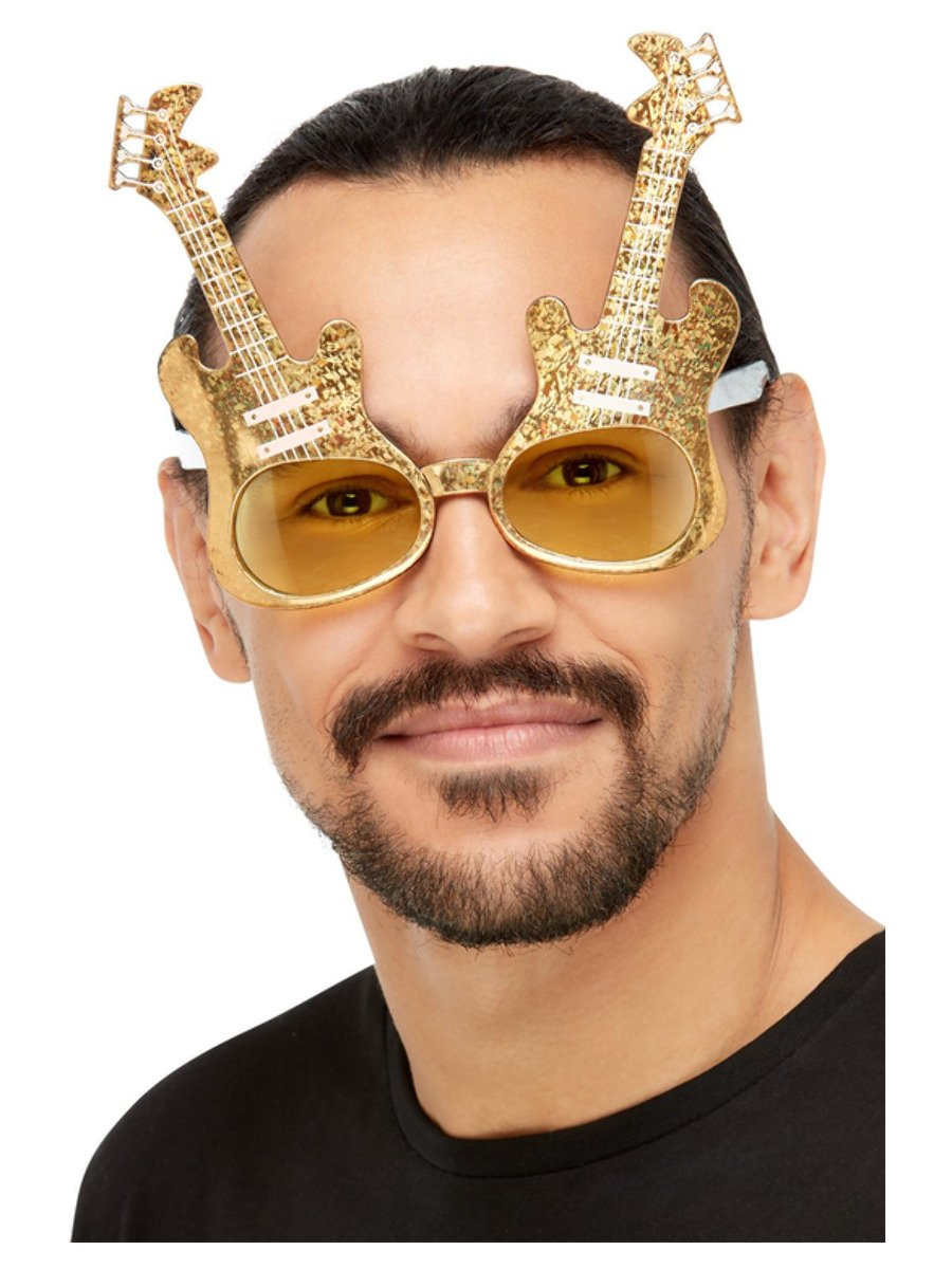 Electric Guitar Glasses, Gold
