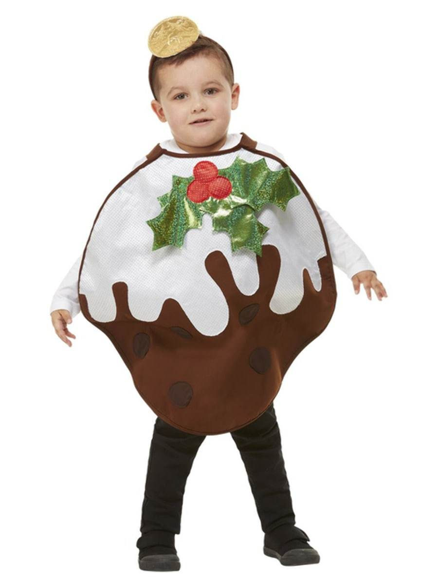 Childrens Christmas Pudding Glitter Costume