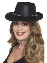 Load image into Gallery viewer, Cowboy Glitter Hat, Black Alternative View 1.jpg