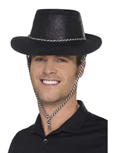 Load image into Gallery viewer, Cowboy Glitter Hat, Black