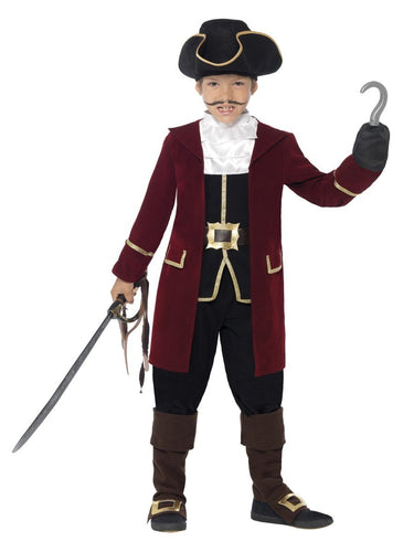 Deluxe Pirate Captain Costume, Kids