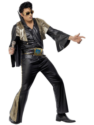 Elvis Costume, Black & Gold