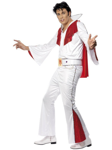 Elvis Costume, White & Red