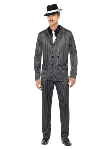 Gangster Costume, Black, Pinstripe