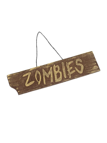 Hanging Zombies Sign