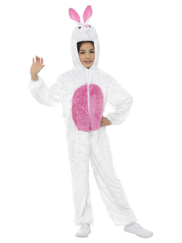 Kids Bunny Costume, White, Medium